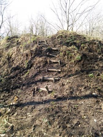 丘を登る階段